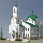 """Освещаване на новия храм """"Св. Св. Онуфрий, Дамаскин и всех мучеников Габровских""""."""